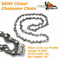 "1Pc Chainsaw 3/8"" Low Profile 0.05"" 55DL Semi Chisel Chains for Stihl 16'' Bar"