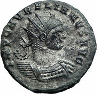 AURELIAN 274AD Silvered Authentic Genuine Ancient Roman Coin Sol Sun i77605