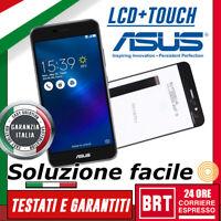 DISPLAY LCD+TOUCH SCREEN ORIGINALE per ASUS ZENFONE 3 MAX ZC520TL 5,2 X008D NERO
