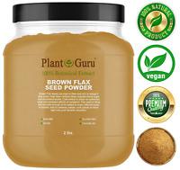Brown Flax Seed Powder 2 lbs. Jar Omega-3 NON GMO Pure Flaxseed Ground Meal Bulk