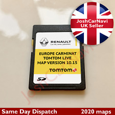 NEWEST RENAULT TomTom CARMINAT LIVE SD CARD EUROPE and UK MAP V10.15 2019 - 2020