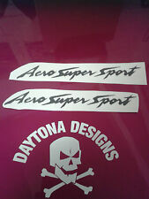 AERO SUPER SPORT THUNDERACE BLACK CUSTOM DECALS STICKERS GRAPHICS