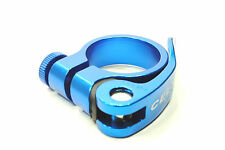 Quick Release QR Mountain/Road Bike Seat Post Clamp 31.8mm Anodized Ano Blue