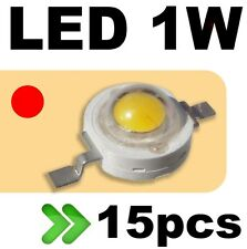 535/15# LED 1W rouge --- 15pcs