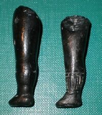 """antique legs for dollhouse doll wire fixing 1.82"""" dark coloured"""
