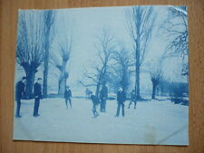 PHOTO 1900 CYANOTYPE PATIN A GLACE PATINAGE