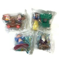 Lot of 4 Vintage Snow White Dwarfs McDonalds Happy Meal Toys 1992