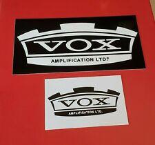 VOX Guitar Amplifier Sticker Set Decal Case Rack Amp Bumper Sticker Decal