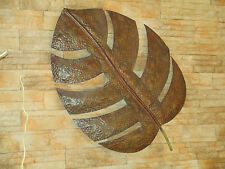 Wanduhr -xl- Metall-uhr- Braun-bronze