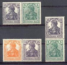 DR 1918 W9,11S6* ZUSAMMENDRUCKE GERMANIA 680€(A5008