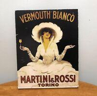 Martini & Rossi Vermouth Bianco Vintage Print On Board-Credizione Star-Milano