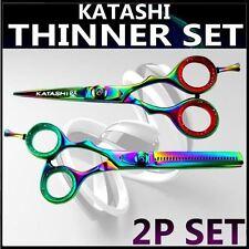 SET KATASHI TITANIUM Set Hair styling Hair Cutting Thinning Scissors Shears 2pcs