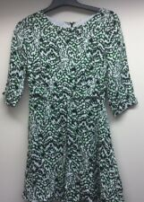 French connection Green  Dress Womens Size 10 3/4 Sleeves
