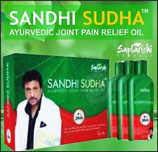ORIGINAL SAPTARISHI SANDHI SUDHA PLUS 100%  PACK 3 BOTTLES JOINT PAIN RELIEF OIL