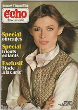 Femmes d'Aujourd'hui Echo de la mode N°32 du 3 août 1977 patron tricot TV