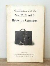 Rare! 1922 Kodak Nos. 2a, 2C & 3 Brownie camera manual instruction book
