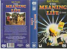 Vhs *Monty Pythons The Meaning of Life* 1983 Pre Cert Australian CIC Video Issue