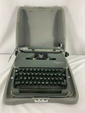 Vintage 1959 Olympia SM4 Dark Green Portable Typewriter With Silver Case