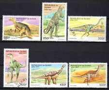 Animaux Préhistoriques Guinée (12) série complète 6 timbres oblitérés