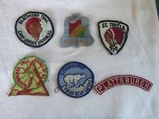 KISHWAUKEE.St THECLA.PLATTSBURGH.CAMP LOWDEN OREGON USA SCOUTING CLOTH BADGES