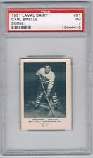 1952 Laval Dairy Subset Hockey Card Valleyfield  #81 Carl Smelle Graded PSA 7