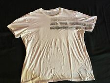 AX Armani Exchange Mens White & Silver Muscle Fit XL TShirt Good CONDITION