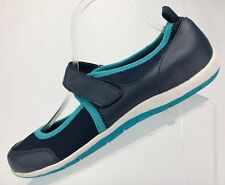 Vionic Mary Jane Shoes - Blue Leather Comfort Orthaheel Tech Women's Size 8.5