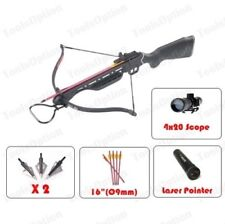 150lbs Hunting Crossbow 8 Arrows Scope Laser Broadheads