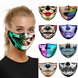 Halloween Skull bike Motorcycle Face Mask Reusable Washable Protection Cover AU