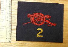 Original Military 2nd Royal Australian Artillery Cloth Formation Badge (4055)