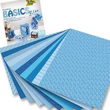 Motivblock BASICS BLAU 24x34cm, 30 Blatt, versch. harmonische Designs, blaue