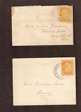 Canada 1891, 94 1c  SQ Small town ladies drop letters Brantford, Newmarket Ont.