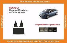 pellicola oscurante vetri renault megane cc cabrio dal 2004 al 2010 kit post