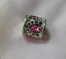 Chamilia Brand new ROYAL PETALS PINK & PURPLE Swarovski charm 2083-0452