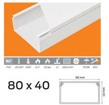 3,49 €/m 10m Kabelkanal PVC 80x40 mm Weiß Schraubbar