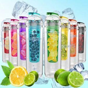 800ML  Fruit Fuzer Infusing Infuser Water Bottle Sports Juice Maker uk