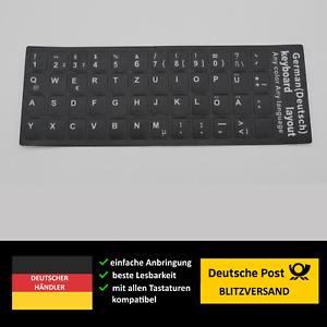 Tastaturaufkleber deutsch German Notebook Laptop Computer Tastatur Tastaturen