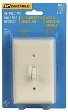 Wiremold Company NM2S 1 Gang Non-Metallic Switch Kit - Ivory