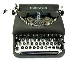 Remington Rand Deluxe Model 5 Vintage Typewriter with Case - Black - Working