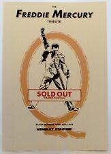 Freddie Mercury Tribute Programme Rare White Version Wembley 1992