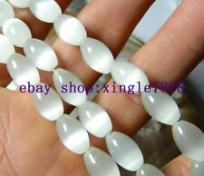 "Beautiful 8x12mm White Mexican Opal Gemstone Rice Loose Beads 13"" 999"