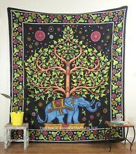 Indiano Albero Della Vita Elefante da Parete Arazzo Mandala Regina Letto Da
