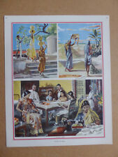 Vintage 1940s UK Macmillan History Geography Print WOMEN OF INDIA