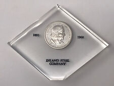New listing 50c Half Dollar 1893 Columbian Scarce proof Like Grade Inland Steel Display