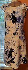 Women's Blue Floral Print Dress w/ Cut Out Back by Emma & Michele Size 16
