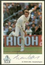 New listing Signed Cricket Postcard - Shaun Udal, Hampshire and England Player.
