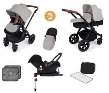 Ickle Bubba Stomp V3 Isofix All in One Travel System - Silver on Black