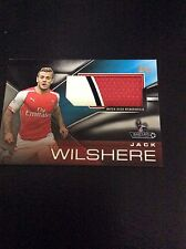 2014 Topps Premier Gold Arsenal Jack Wilshere Game Use Jumbo Patch 3 Color 44/50