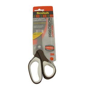 3M Scotch 1468TUNS Precision Ultra Edge Titanium Non-Stick Scissors: 8-inch Brow