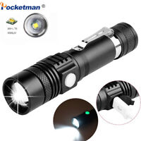 50000LM T6 LED Flashlight Rechargeable Zoomable 3 Modes Torch Light 18650